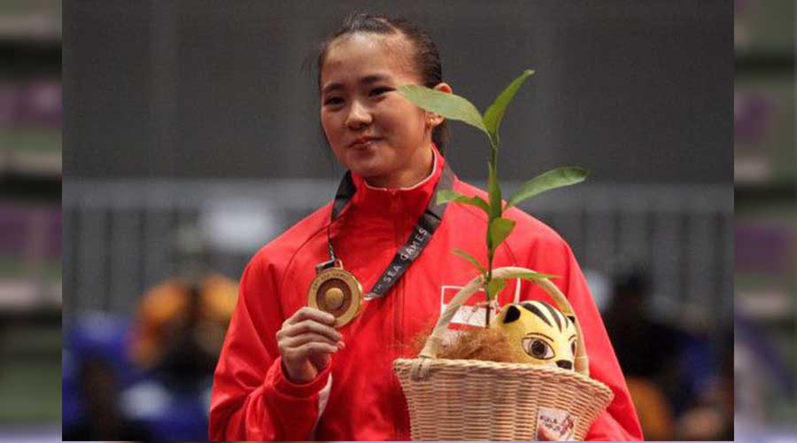 Felda Elvira Santoso atlet wushu Asian Games 2018